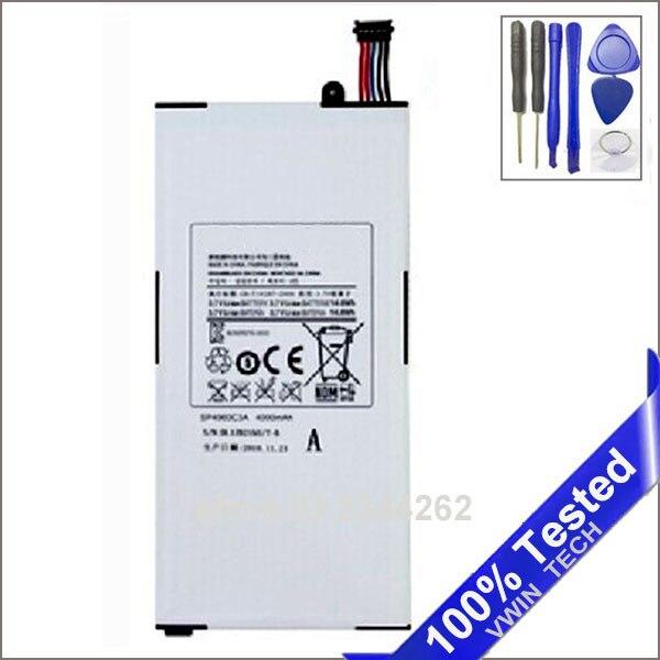 Per Samsung Galaxy Tab P1000 P1010 GT-P1000 Batteria 4000 mah di Ricambio SP4960C3A Tablet bateria Strumenti Gratuiti VWIN TECH Store
