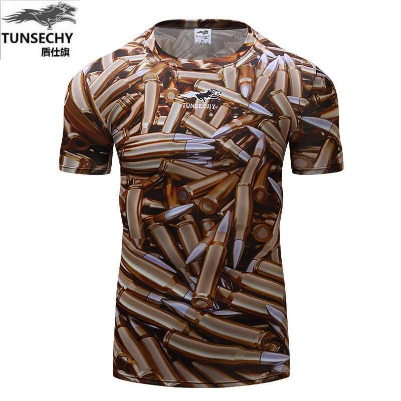 新しいボディービル迷彩tシャツ男性陸軍戦術戦闘tシャツ軍事カモキャンプtシャツフィットネス圧縮シャツ
