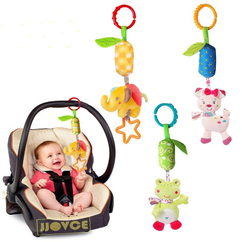 2017 New Baby Crib Stroller Cot Buggy Pram Car Seat Revolving Hanging Rattles Dangle Toy Baby Rattles Mobiles Handbell