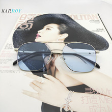 New Metal Fashion UV400 Sunglasses Women Ocean Lens Eyeglasses Men 2019