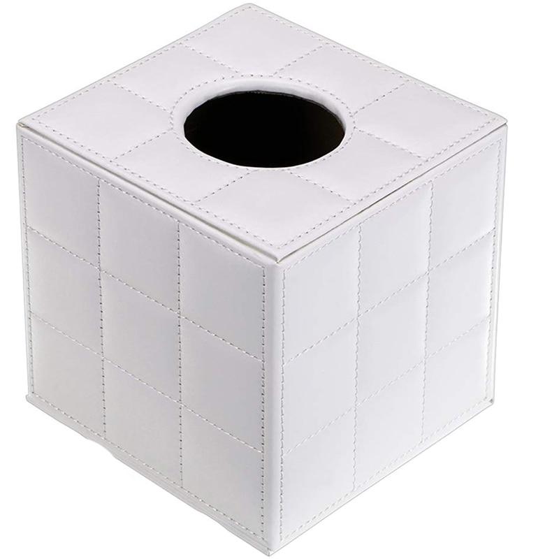 Коробка для салфеток из искусственной кожи, Квадратный держатель для салфеток, бумажный чехол, Диспенсер, Держатель салфеток для лица с магнитным дном