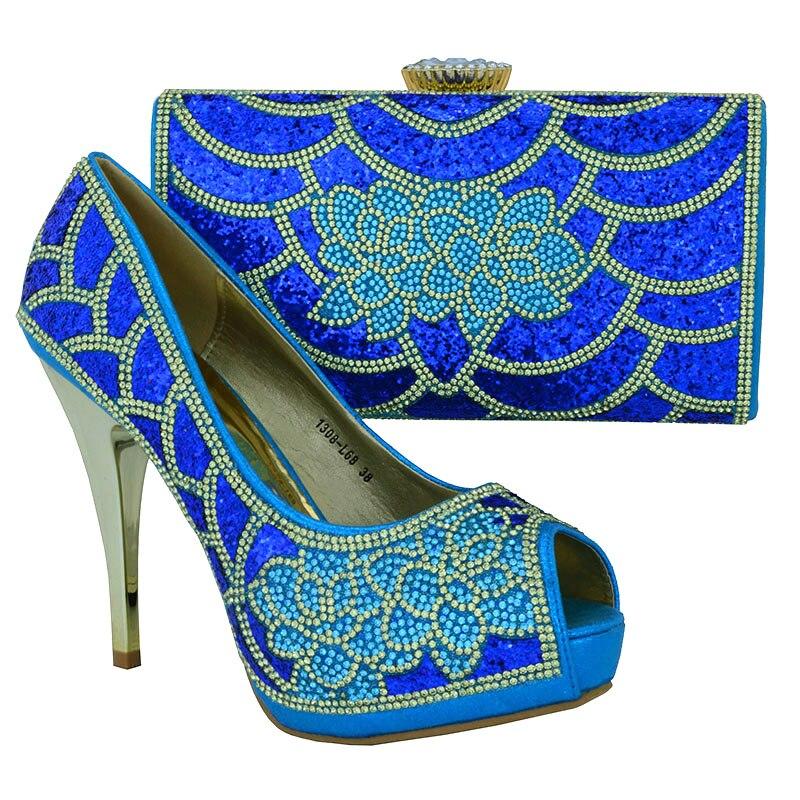 Pour La Africaine Qualité Ensembles Avec Assorti or Et Haute rouge Femmes Chaussures Blakc Sac Partie Noir Africaines Couleur bleu Italiennes AYpgwn8Xq
