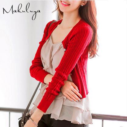 Nueva primavera Otoño mujeres hollow thin knitting cardigan Z-65-30 puro del todo-fósforo de manga larga delgada ocasional de la capa femenina