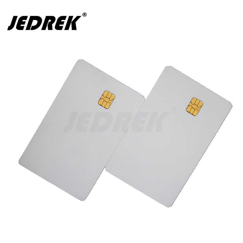 (10 pz/lotto) SLE 4442 Chip Smart Card IN PVC Bianco IC Carte ISO7816