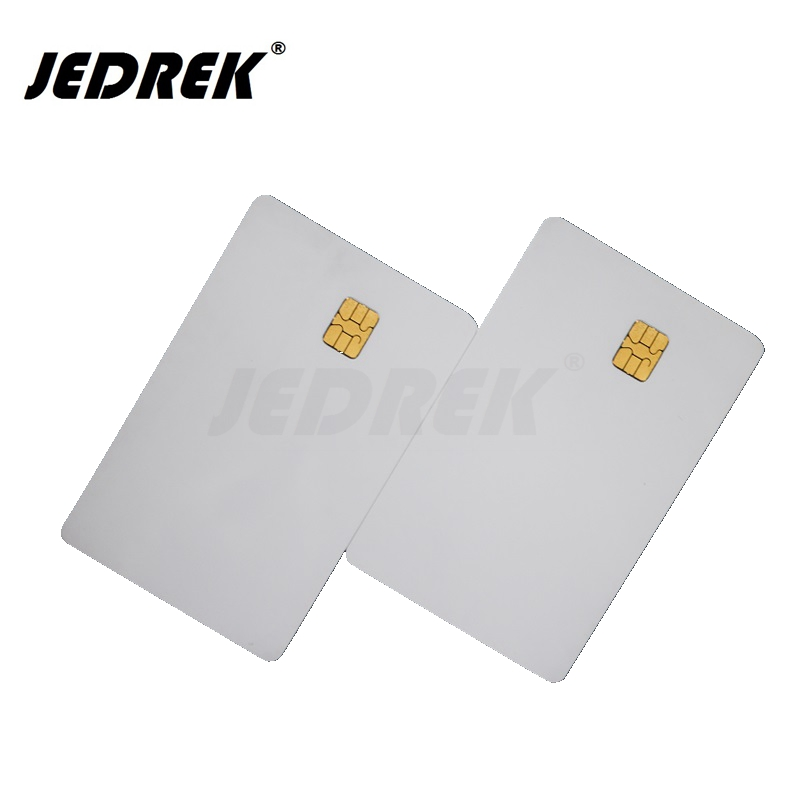 (10 Pcs/lot) SLE 4442 Chip PVC Smart Card Blank  IC Cards  ISO7816