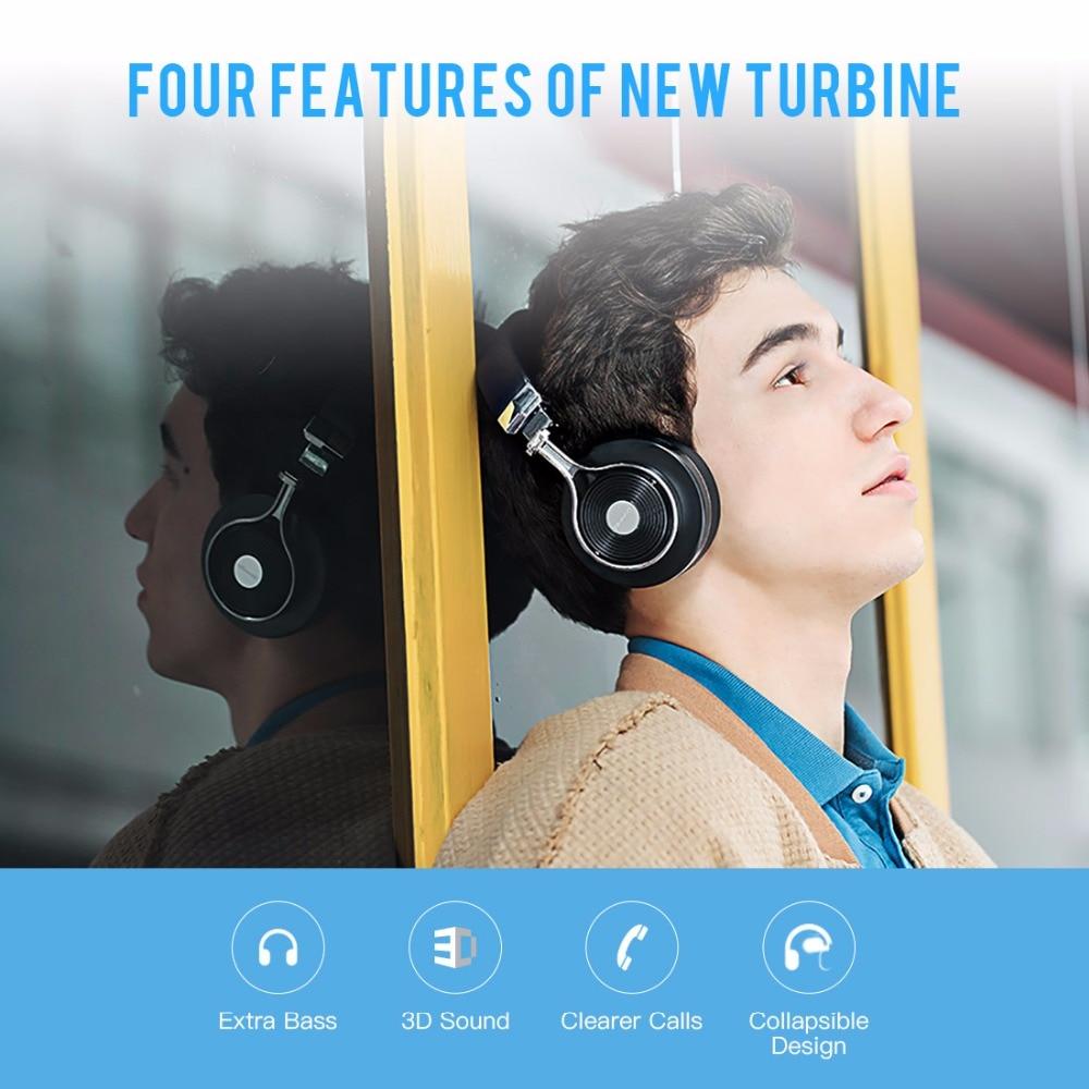 Bluedio T3 Bluetooth cuffie stereo e bassi ricchi e BT4.1 auricolare Bluetooth cuffie senza fili per i telefoni auricolari musicali