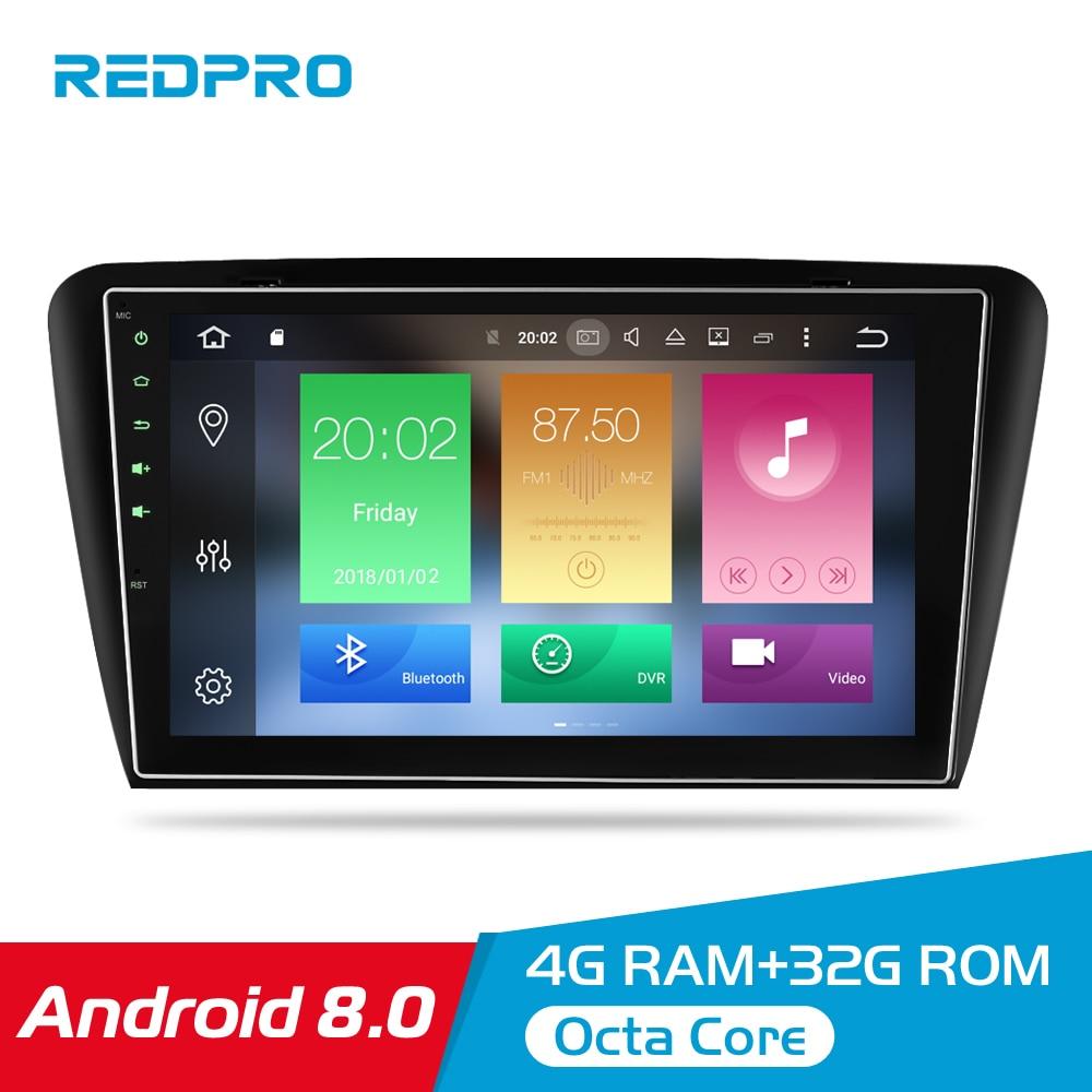 10 1 4G RAM Android 8 0 Car Multimedia Player For Skoda Octavia A7 2013 2014