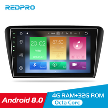 10.1 4G RAM Android 8.0 Car Multimedia Player For Skoda Octavia A7 2013 2014 2015 2016 GPS Navigation Audio Video Stereo No DVD цена