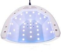 SUNone Tırnak Kurutucu 48 W/24 W Çift Güç Beyaz Işık UV LED lamba Profesyonel Lehçe Jel Hızlı Kür Boya Sanat Manikür Salonu aracı