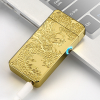 Latest Electric USB Arc Lighter Metal USB Rechargeable Flameless Windproof Smokeless Cigarette Lighter Perfect Gift