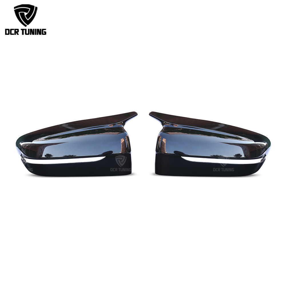 M Look Rear View Mirror Cover For BMW 5 Series G30 G38 6 Seies GT G32 7 Series G11 G12 Gloss black M Performance 2017+  LHD ONLY-in Mirror & Covers from Automobiles & Motorcycles    1