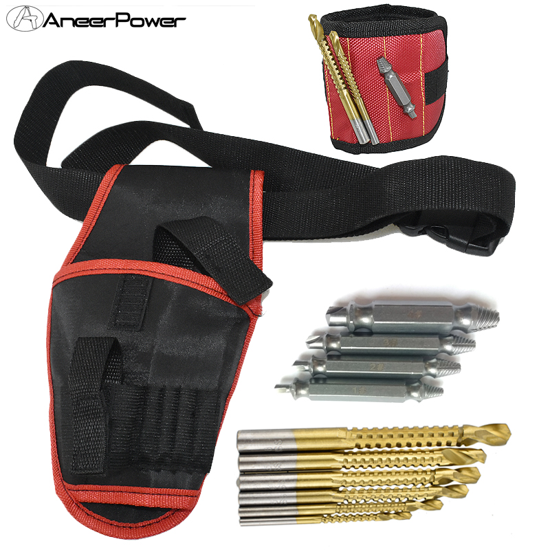 Electric Accessories Tools Drill Mini Power Parts Machine Screwdriver Hand Tool Waist Bag Bits Cordless High-Speed Dremel Carry