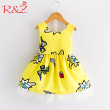 a5119ac4186 AiLe Rabbit R Z Baby Girls 2018 Summer Printed Dresses for