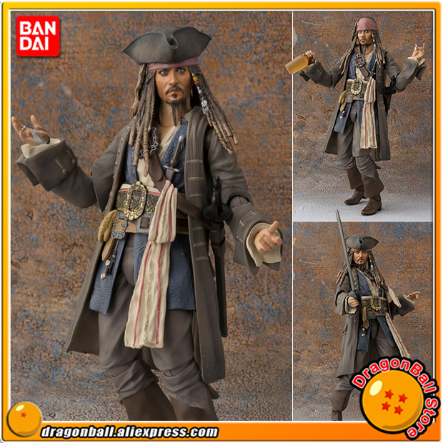 Pirates of the Caribbean: Dead men tell no tale Original BANDAI Tamashii Nations S.H.Figuarts Action Figure Captain Jack Sparrow ...