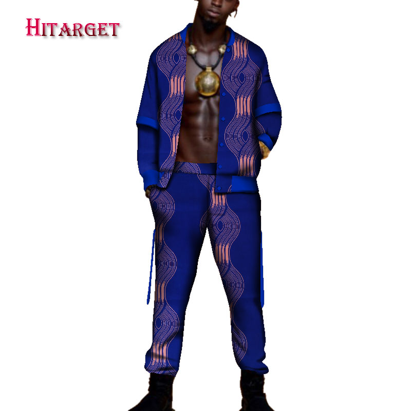 2018tracksuit men Autumn Mens African Clothing dashiki men african print suit 2 pieces African Mensclothe Cotton Plus Size WYN95 in Men 39 s Sets from Men 39 s Clothing