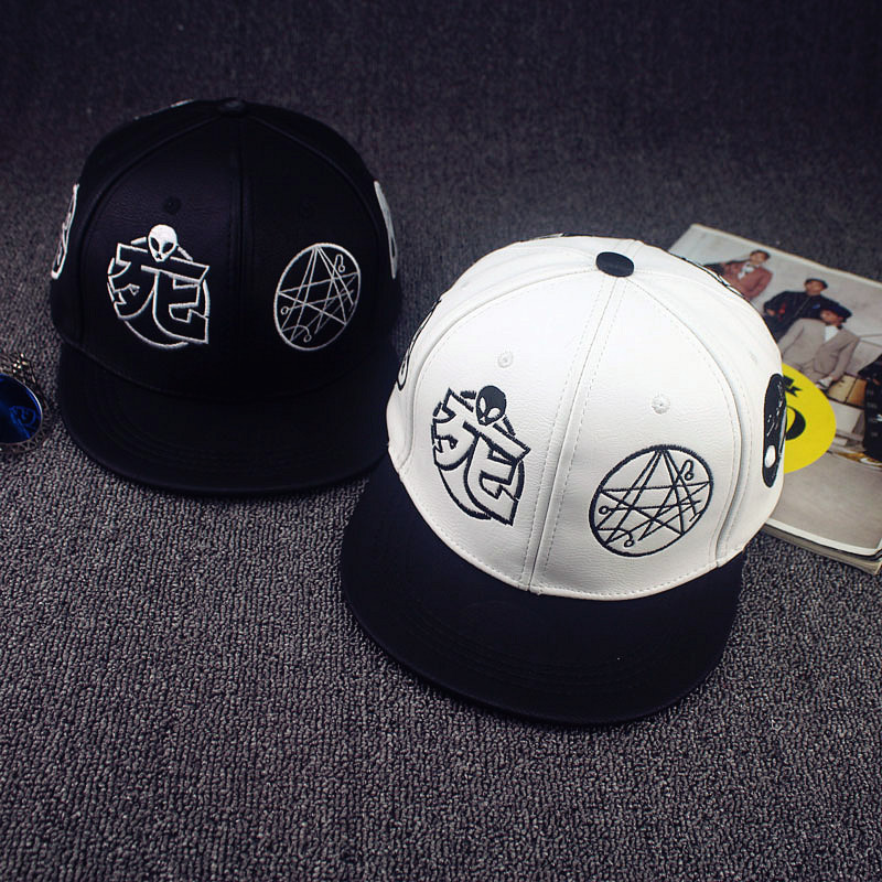 Unisex Fashion Chinese characters Alien Snapback Hats Lowest whole network  Upscale embroidery Cheap Flat Brimmed Snap back Hat 7cea590cdf7