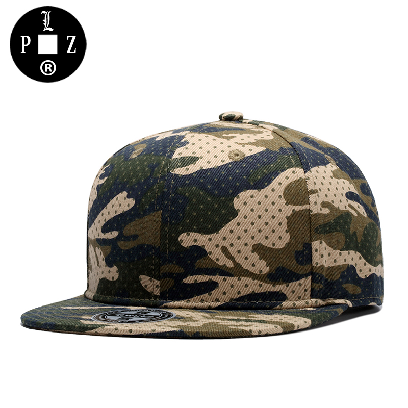 PLZ Camo Baseball Cap Hip Hop Snapback Cap Men Fashion Camouflage Sun Hat Summer Beach Caps Hats Male Unisex Skateboard Hat 2016 high quality camo baseball caps kids boys snapback caps children girls hip hop cap fashion summer baby sun hats for girls