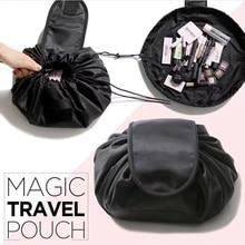 New Fashion round Shaped Travel Cosmetic Bag Make Up Bag Drawstring Bags Makeup Wash Organizer Storage Cases portable Beauty Bag
