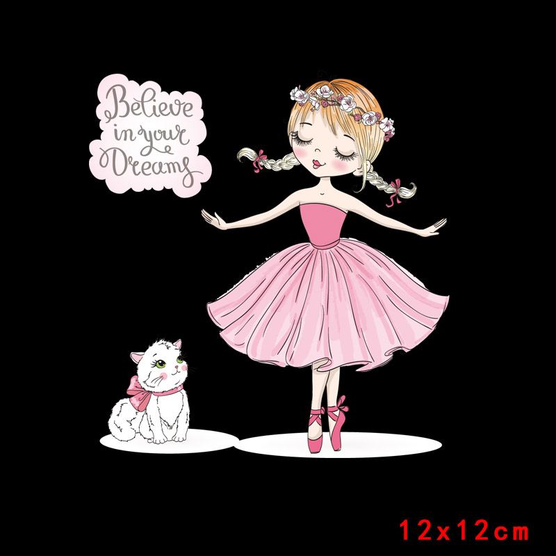 Prajna Красота Девушка глажка наклейки теплообмена винил патч термоутюг на передачу для одежды детская футболка Мультфильм аппликации - Цвет: Синий