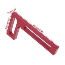 100mm Precision Mini Square Woodworking Tool L-Squre Minisquare Clamping Squares #0616