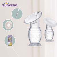 4 in 1 Combined Pack Baby Feeding Manual Breast Pump Breast Collector Automatic Correction Breast Milk Silicone Pumps BPA Free