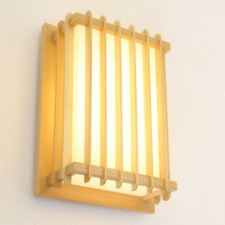 Japanese style Delicate Crafts Wooden Frame tatami led wall lamp luminarias para sala