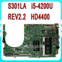 For ASUS S301L S301LA Laptop motherboard S301LA REV2.0 mainboard I5-4200U Integrated 100% tested
