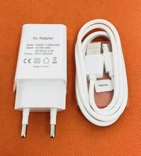 オリジナル旅行充電器euプラグアダプタ+ usbケーブル用oukitel k5 MT6737Tクアッドコア無料市平