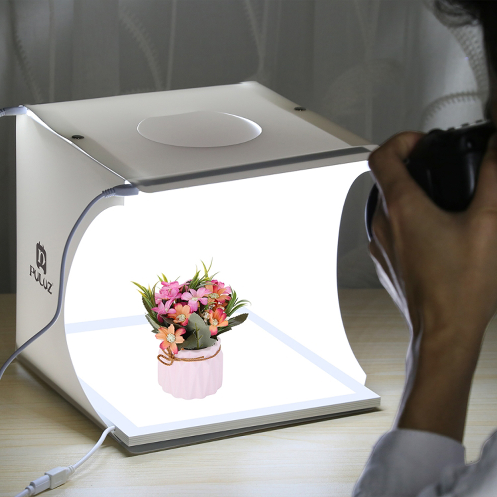PULUZ mini 22.5*22.5CM LED photography shadowless lamp panel pad + 2LED panel 20CM light box studio shooting tent boxPULUZ mini 22.5*22.5CM LED photography shadowless lamp panel pad + 2LED panel 20CM light box studio shooting tent box