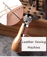 leather sewing machine DIY Leather Sewing Tool Leather Hand Sewing Machine Waxed Thread for Leather Craft Edge Stitching