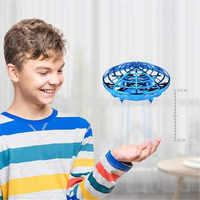 Anti-colisão voando helicóptero mão mágica ufo bola aeronaves sensing mini drone indução crianças brinquedo eletrônico elétrico