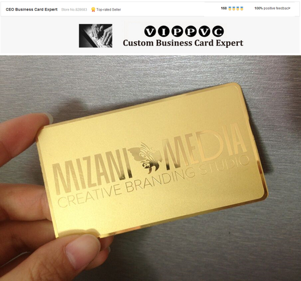 Matte faces polished sides stainless steel gold metal card 100 pcs matte faces polished sides stainless steel gold metal card 100 pcs in business cards from office school supplies on aliexpress alibaba group colourmoves