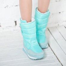 Mujer botas para Mujer Caliente botas de invierno colorido cargador de la nieve 2016 la moda de nueva llegadas