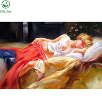 2017 DIY 3D Diamond Painting Rhinestones Cross Stitch Scroll Painting Canvas Oil Half-naked women Home Deco Beauty Art Picture
