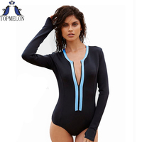 Swimsuit Long Sleeve Swimwear Vintage One Piece Surfing Female Biquini One Piece Swimsuit Monokini Cut Out
