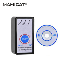 Newest With Switch ELM327 WiFi OBD-II Car Diagnostics Tool OBD2 OBD ELM 327 Code Reader for IOS/ Android/PC Wifi Connection