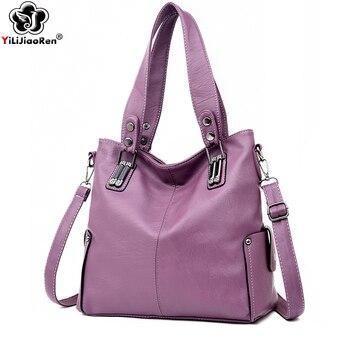 Luxury Brand Women Leather Handbags Fashion Ladies Hand Bags Designer Big Shoulder Crossbody Bags for Women Bolsa Feminina 2019