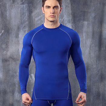 New compression men shirt quick dry fitness tights long sleeve t shirt bodybuilding tops elastic clothing camisetas hombre