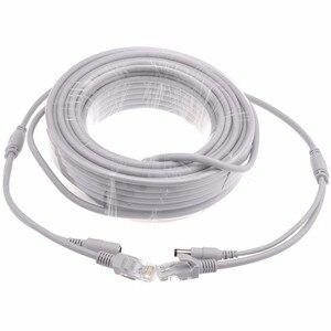 5 м/10 м/20 м/30 м Cat5e Ethernet кабель RJ45 сетевой LAN кабель + маршрутизатор питания постоянного тока компьютерный кабель для системы ip-камеры