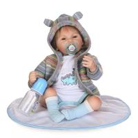 New Arrival 55CM Blue Eyes Sweaster Dressed So Truly Real Bebe Reborn Boy Doll Toy As