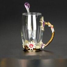 Enamel Glass Cups