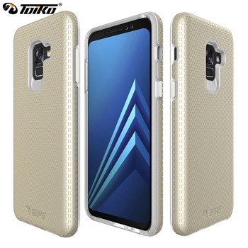 TOIKO X Guard Dual Layer Case for Samsung Galaxy A8 Plus 2018 Cover 2 in 1 Shockproof PC TPU Hybrid Phone Shell Protective Armor
