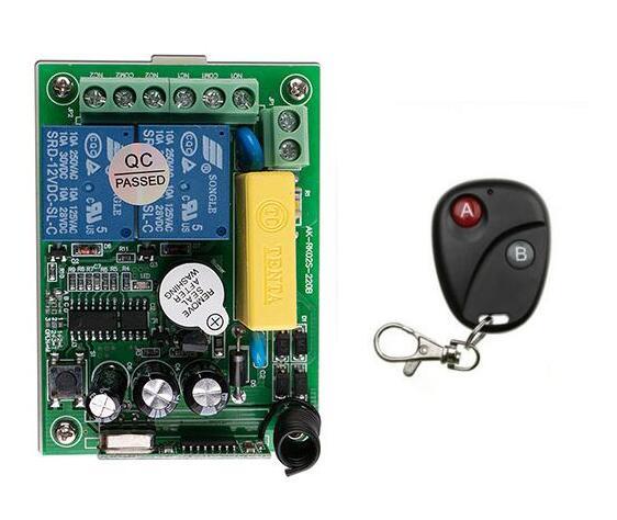 Lowest Price Ac 220v 2 Ch 2ch Remote Control Garage Door Rf Wireless
