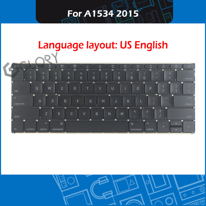 Full New Laptop A1534 US Keyboard For Macbook Retina 12 A1534 Keyboard Replacement 2015 Year MF855 MF865 image