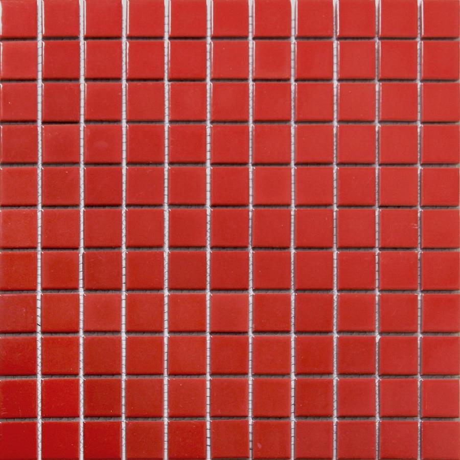 Hot red square ceramic mosaic tile kitchen backsplash tile
