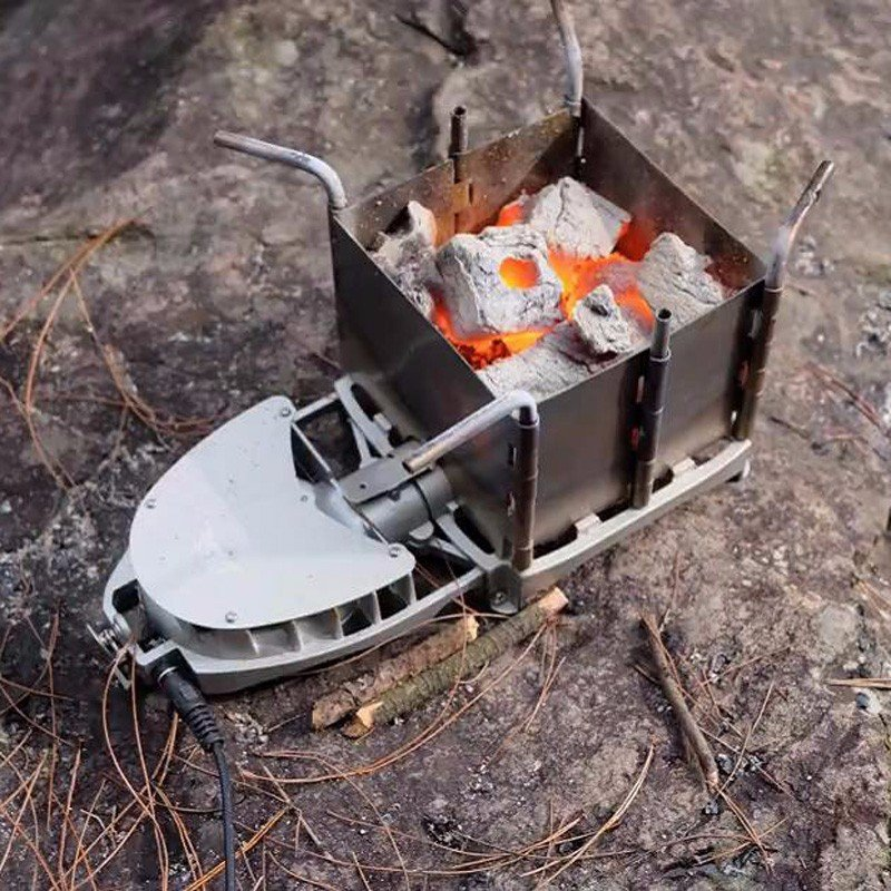 BRS-116 Outdoor Camping Portable Charcoal Stove Backpack Firewood Stove  Picnic Cook Wood Stove New Blast Furnace Head - Wood Stoves Promotion-Shop For Promotional Wood Stoves On