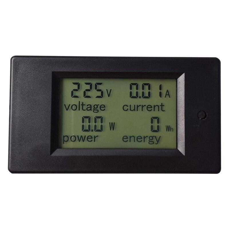 1 unid nuevo útil 1 unid AC 80-260 V LCD Digital 20A Volt vatio medidor de potencia amperímetro voltímetro