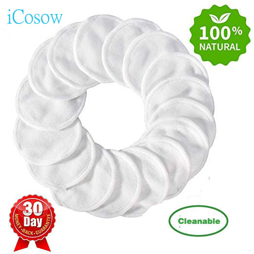 iCosow 300pcs Reusable Cotton Pads Make up Facial Remover Wipe Nail Art Cleaning Washable
