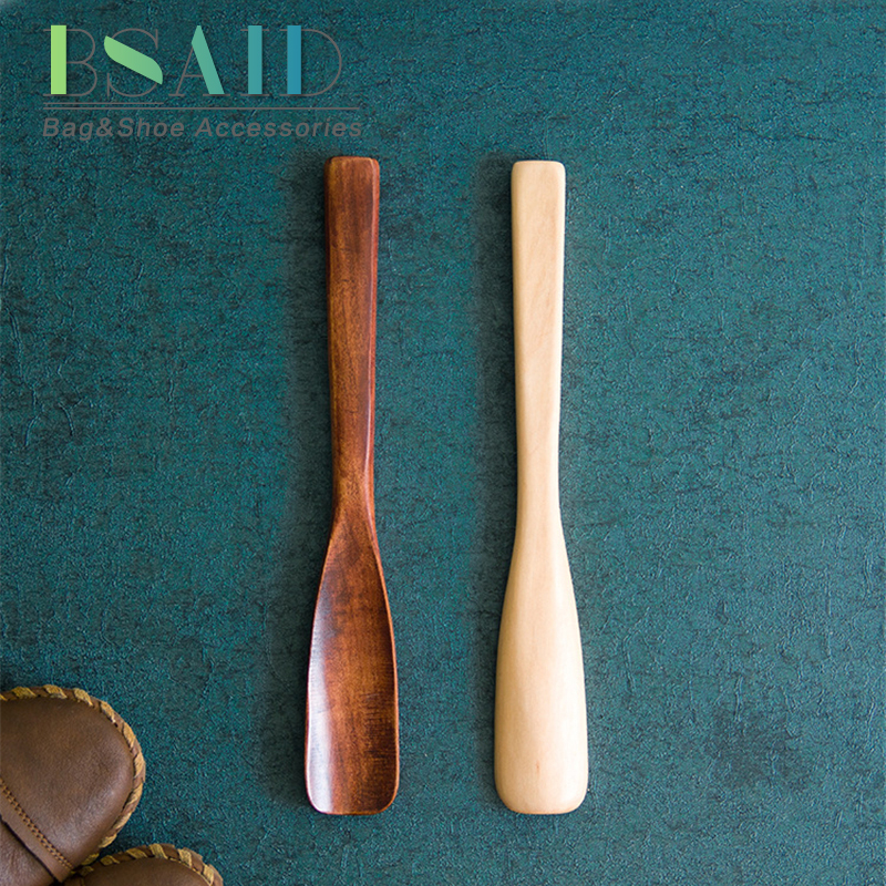 BSAID Wood Shoe Horn Spoon For Convenient Wearing Shoes Durable Wooden Shoe Horns 25cm Shoehorn Shoes Accessories Aid Stick NEW soumit 2 pcs wood shoe horn craft birch wooden 15 5cm short handle shoehorn lifter with leather rope for shoes accessories horns