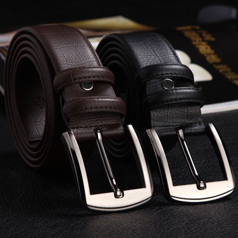 New fashion Genuine leather steel + Cow leather   belt   men for gift stainless